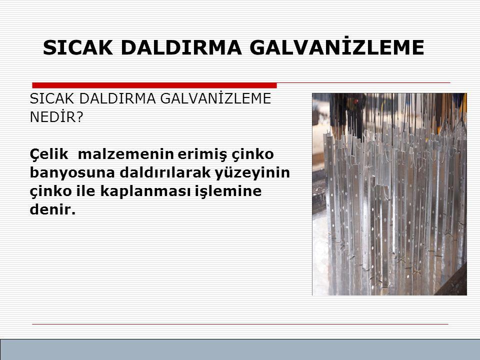 SICAK DALDIRMA GALVANİZLEME PROSESİ
