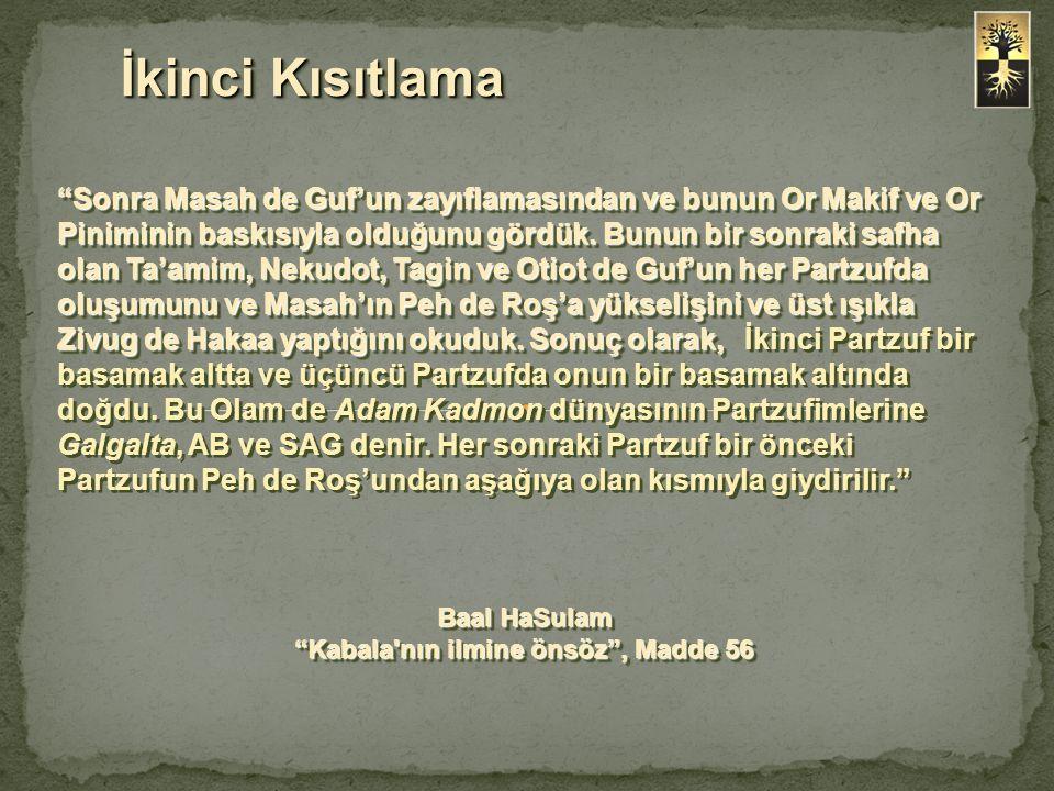 Sonra Masah de Guf'un zayıflamasından ve bunun Or Makif ve Or Piniminin baskısıyla olduğunu gördük.