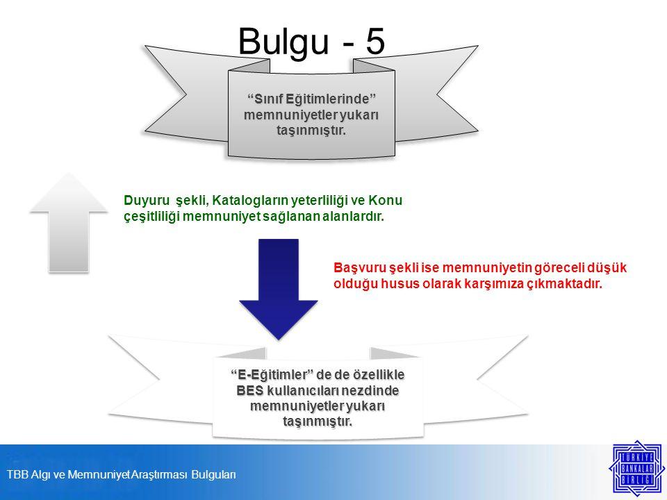 Bulgu - 5 Sınıf Eğitimlerinde memnuniyetler yukarı taşınmıştır.