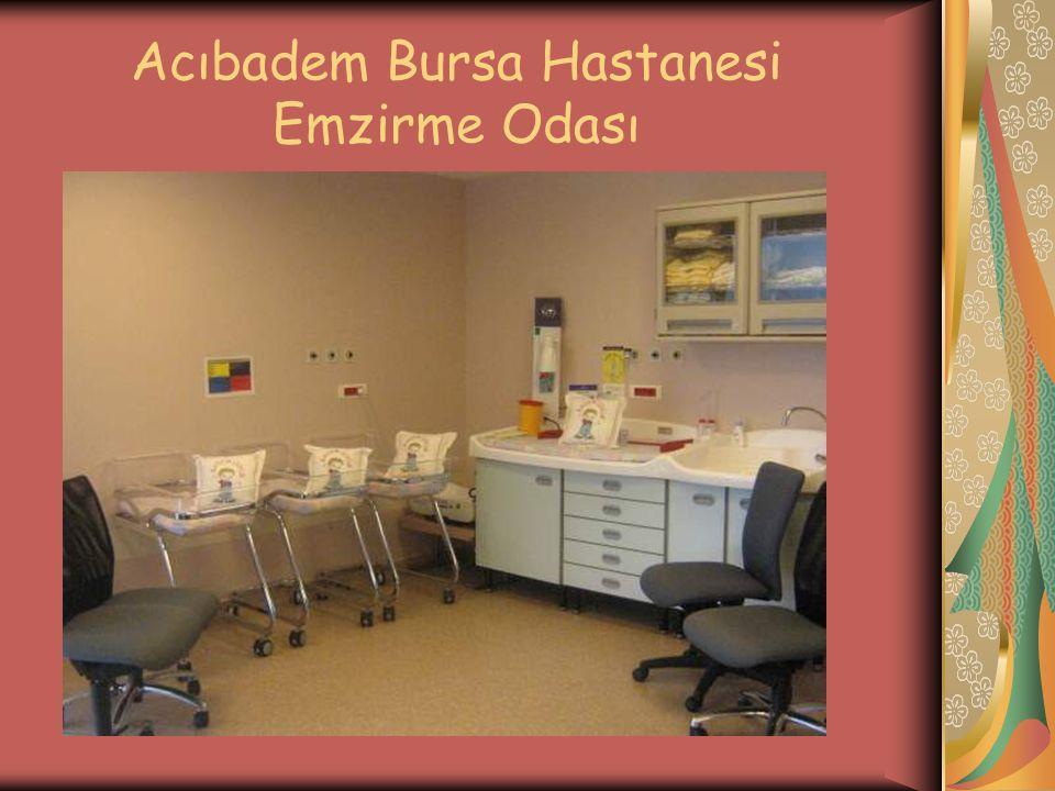 Acıbadem Bursa Hastanesi Emzirme Odası