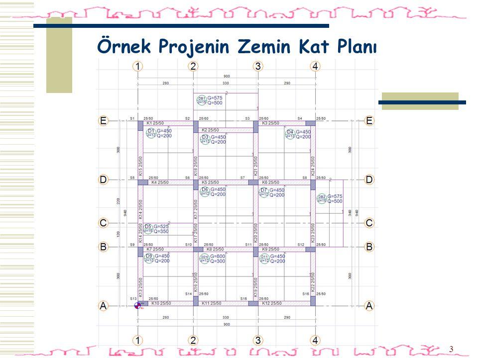 44 Plan Ayarları  Toolbardan Mimari Plan-Kalıp Planı ikonunu tıklayın.