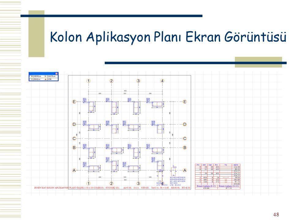 48 Kolon Aplikasyon Planı Ekran Görüntüsü
