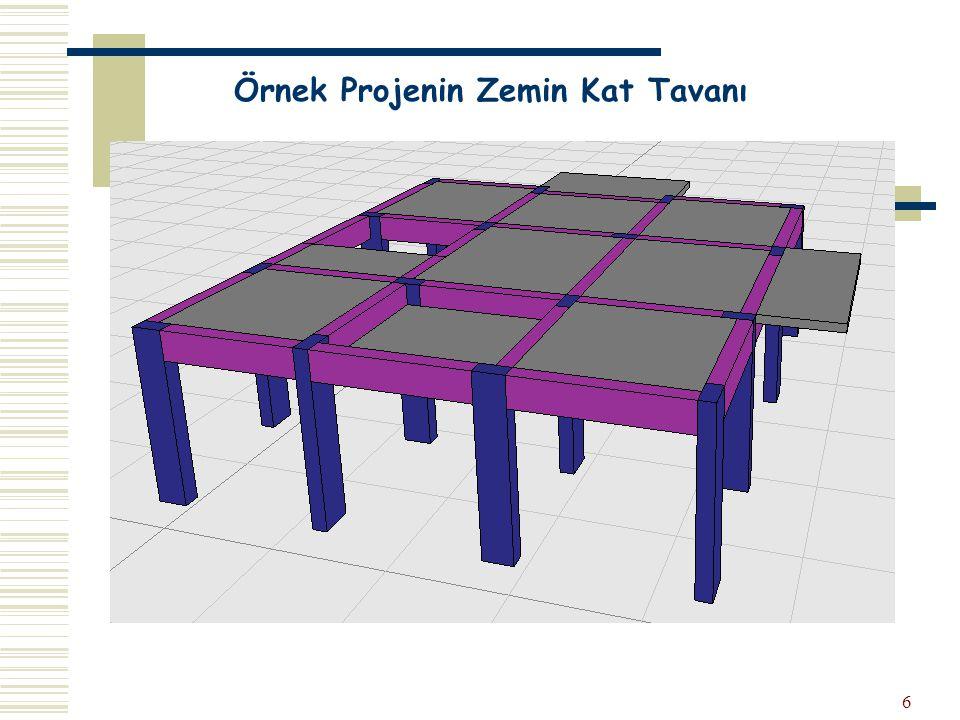 6 Örnek Projenin Zemin Kat Tavanı