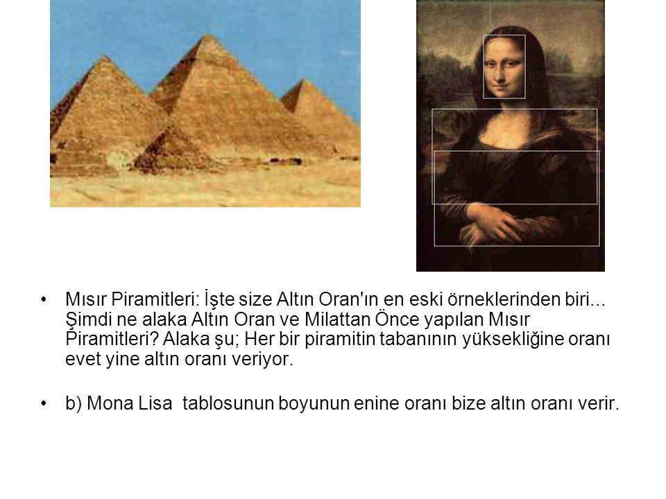 •Mısır Piramitleri: İşte size Altın Oran'ın en eski örneklerinden biri... Şimdi ne alaka Altın Oran ve Milattan Önce yapılan Mısır Piramitleri? Alaka
