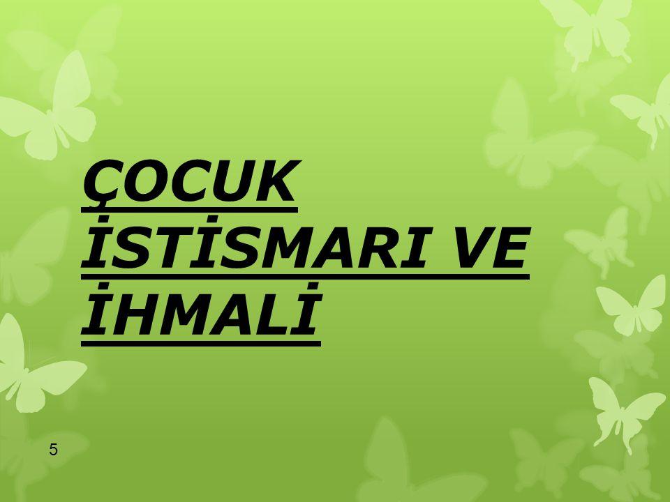 Türk Ceza Kanunda Çocuklara Karşı İşlenen Suçların Madde Başlıkları ve Numaraları Çocuğa işkence, TCK.mad.94/2-a Neticesi sebebi ile ağırlaşmış işkence, TCK mad.95 1- e,2-e Eziyet, Madde.96 Koruma, Gözetim, Yardım, Bildirim Yükümlülüğünü İhlali, TCK.mad.97 Cinsel Saldırı, TCK.
