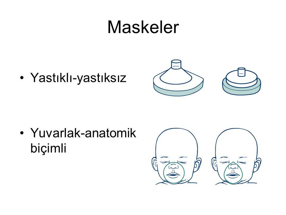 Maskeler •Yastıklı-yastıksız •Yuvarlak-anatomik biçimli