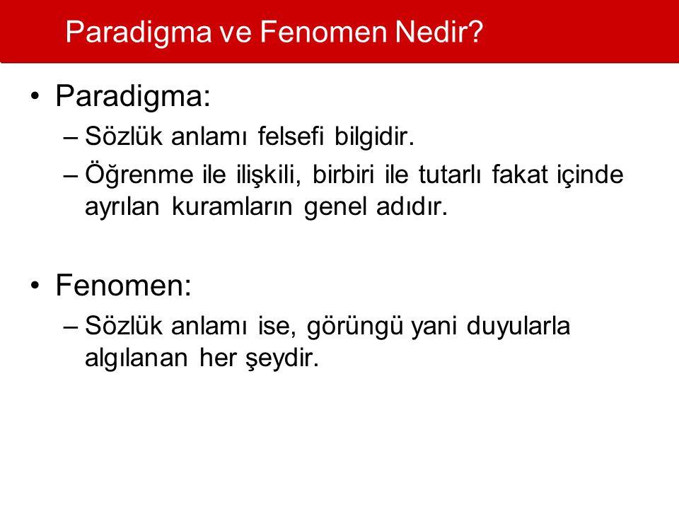 Paradigma ve Fenomen Nedir.•Paradigma: –Sözlük anlamı felsefi bilgidir.