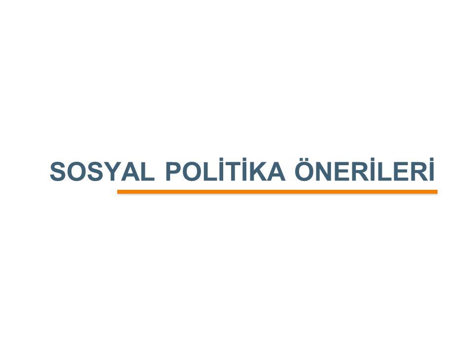 SOSYAL POLİTİKA ÖNERİLERİ