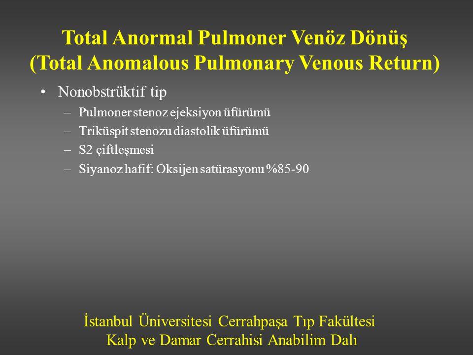 İstanbul Üniversitesi Cerrahpaşa Tıp Fakültesi Kalp ve Damar Cerrahisi Anabilim Dalı •Nonobstrüktif tip –Pulmoner stenoz ejeksiyon üfürümü –Triküspit