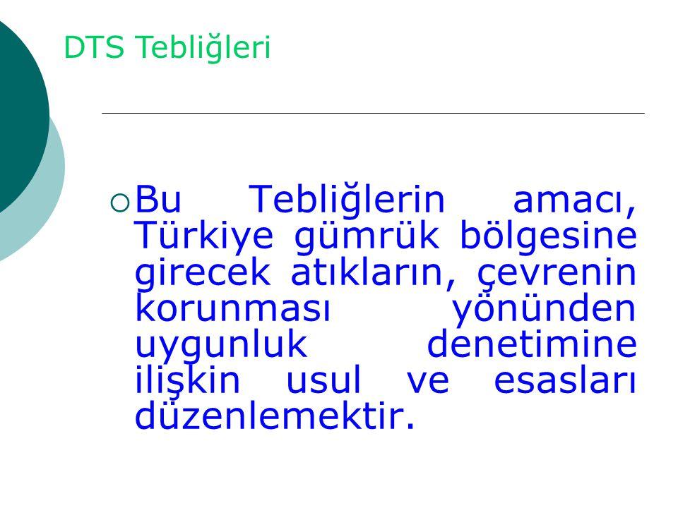  Bu Tebliğlerin amacı, Türkiye gümrük bölgesine girecek atıkların, çevrenin korunması yönünden uygunluk denetimine ilişkin usul ve esasları düzenleme