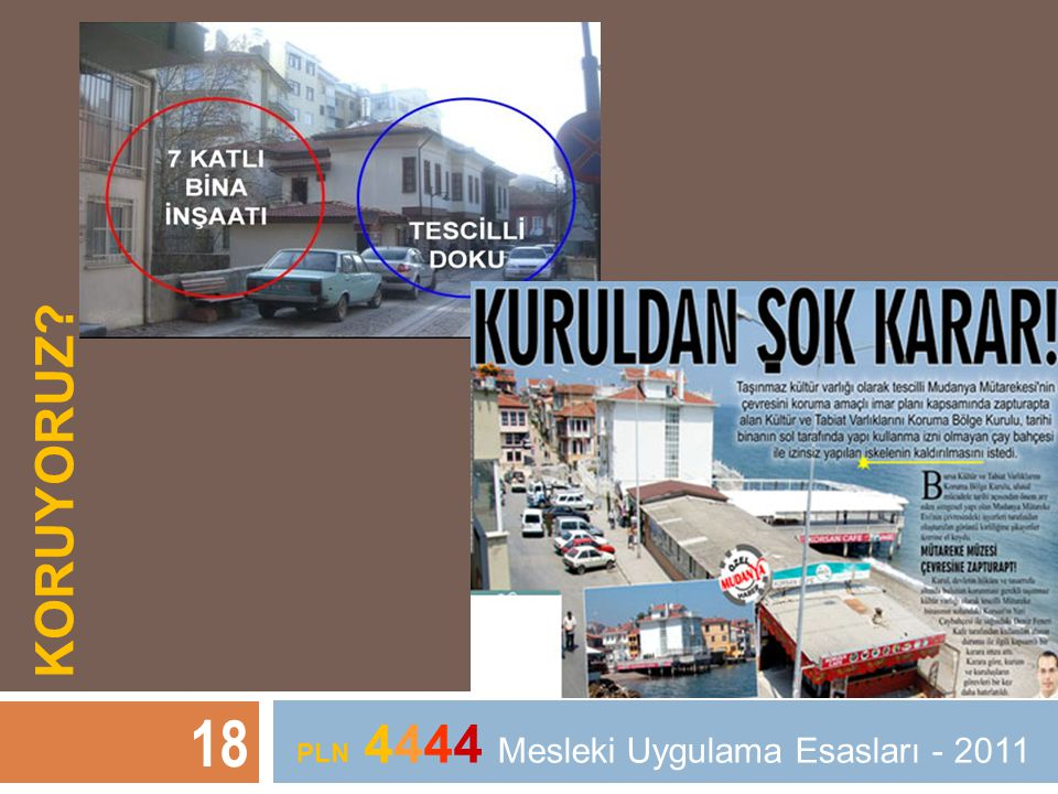 KORUYORUZ? 18 PLN 4444 Mesleki Uygulama Esasları - 2011