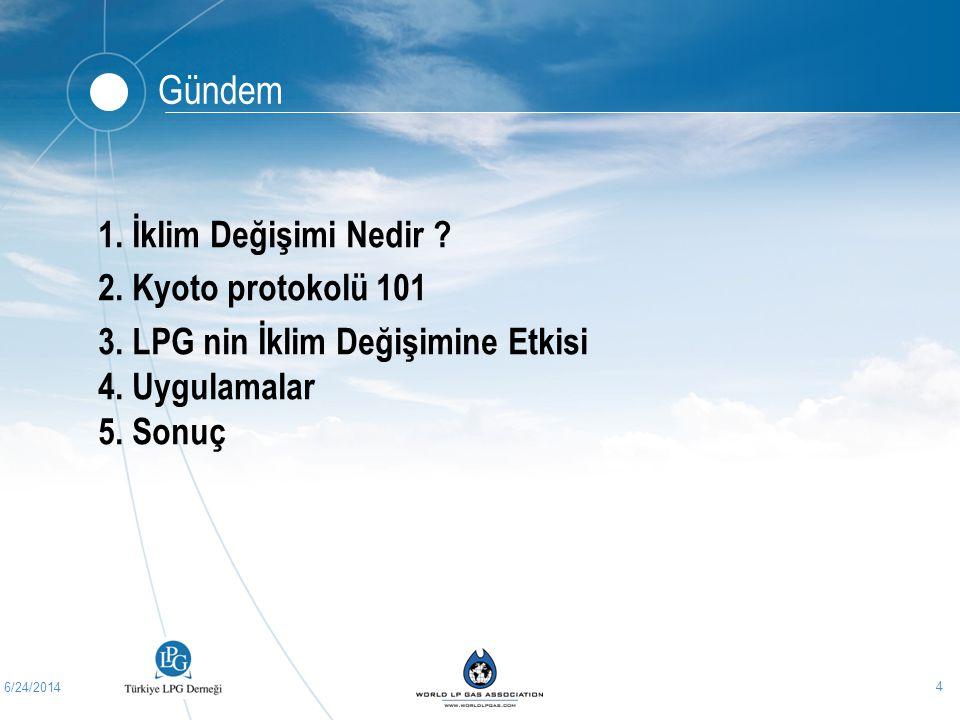 6/24/2014 15 LPG ve İklim Değişimi LPG, seragazı oluşumu açısından önemli katkıda bulunur.