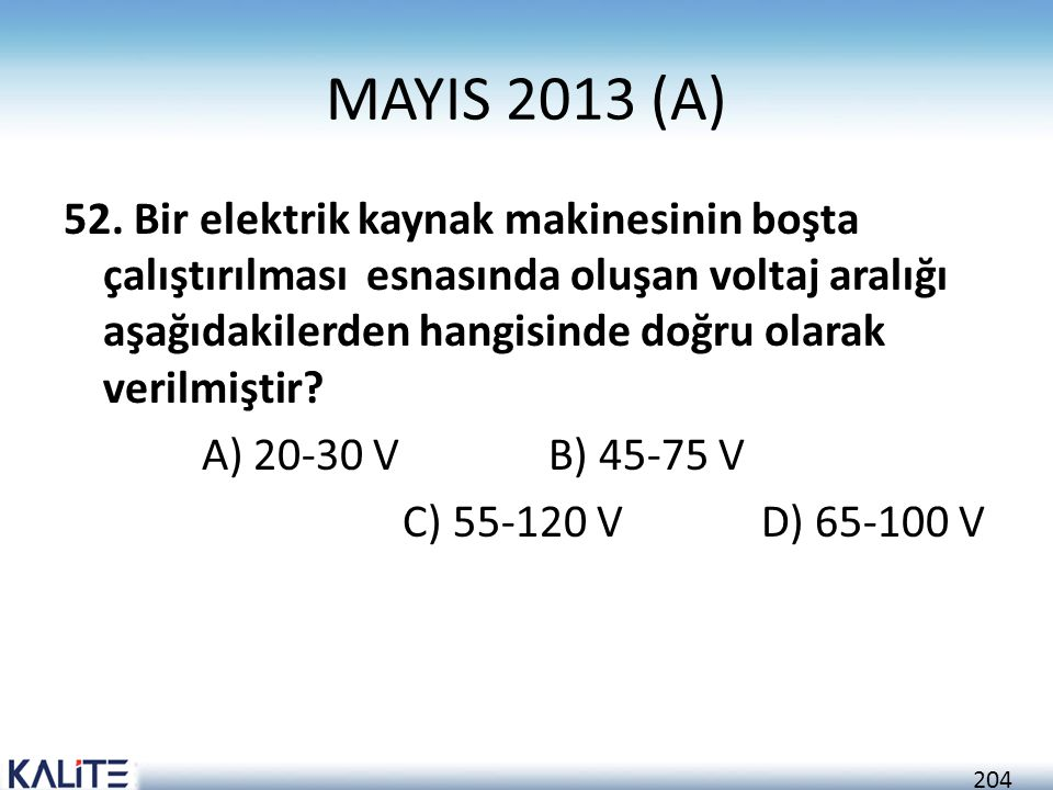 204 MAYIS 2013 (A) 52.