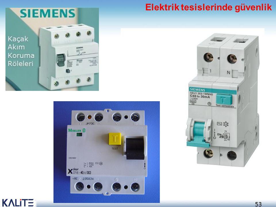 53 Elektrik tesislerinde güvenlik