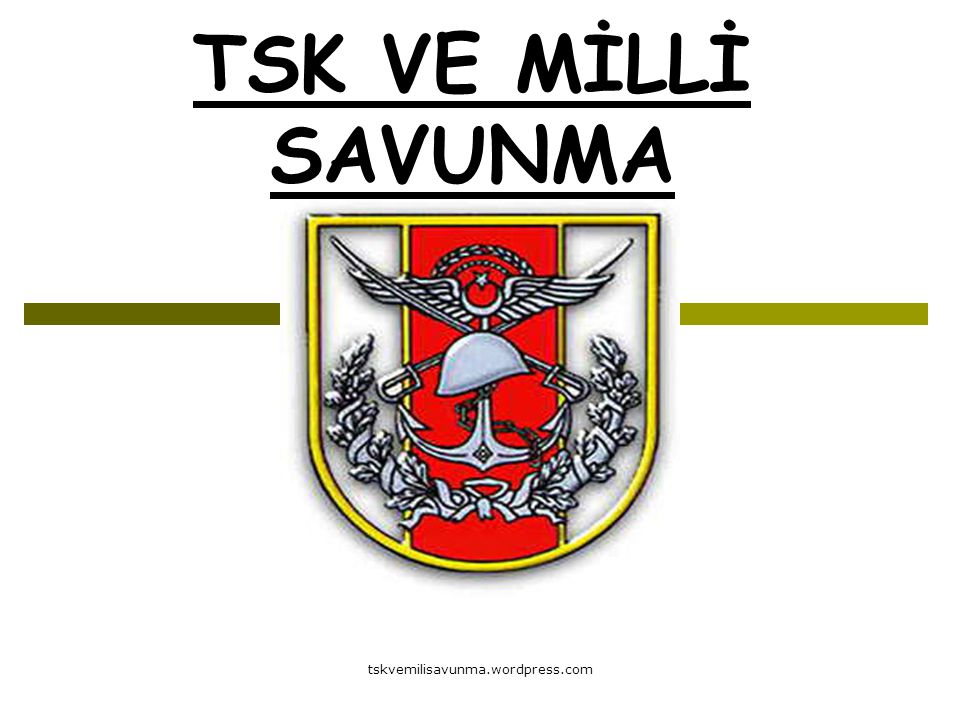 tskvemilisavunma.wordpress.com TSK VE MİLLİ SAVUNMA