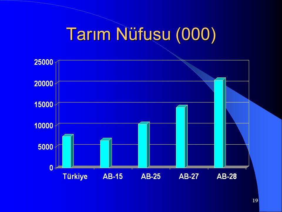19 Tarım Nüfusu (000)