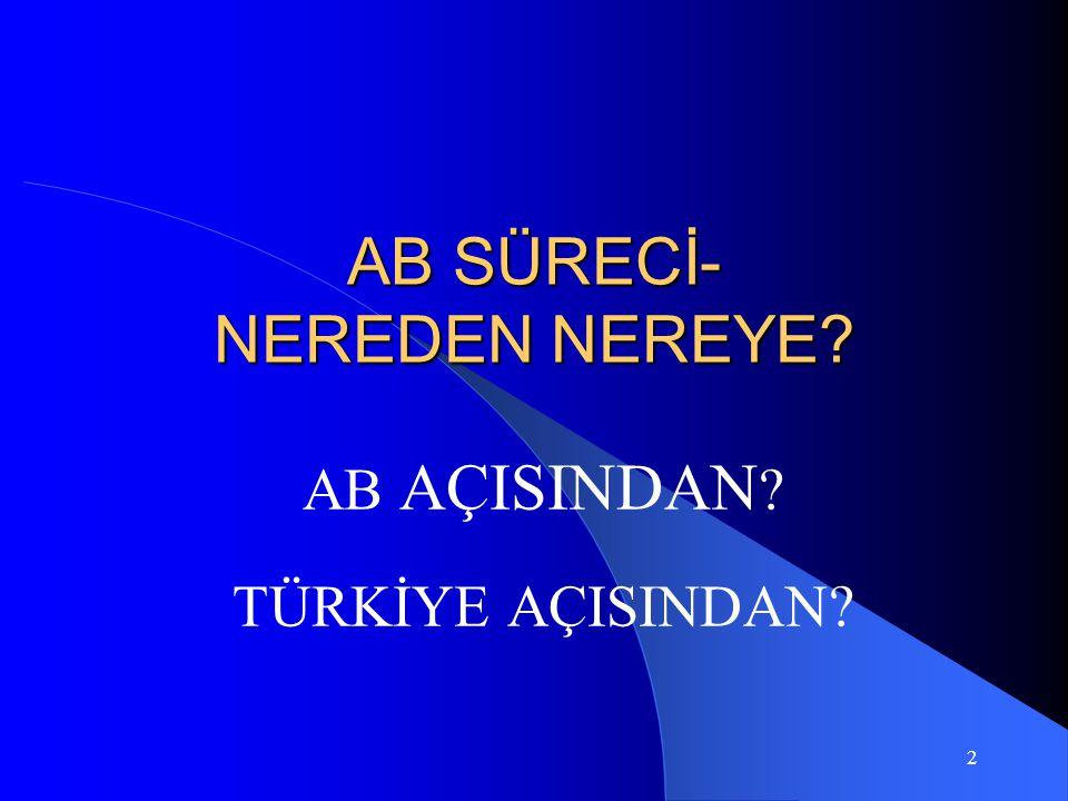 3 AT'a Yapılan Başvurular Yunanistan 8 Haziran 1959 Türkiye 31 Temmuz 1959 İrlanda 1 Ağustos 1961, İngiltere ve Danimarka 10 Ağustos 1961 Norveç 30 Haziran 1962 İngiltere,İrlanda,Danimar.