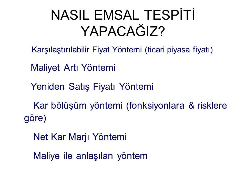 NASIL EMSAL TESPİTİ YAPACAĞIZ.