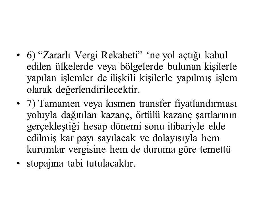 ÖRNEK OLAY-11 •Türkiye'de tam mükellef (A) Kurumu, dolaylı ortağı olan (B) Kurumuna faizsiz olarak 5 milyon YTL borç para vermiş olup, dönem boyunca (X) Bankasına olan borçlarına ise yıllık % 20 faiz ödemiştir.