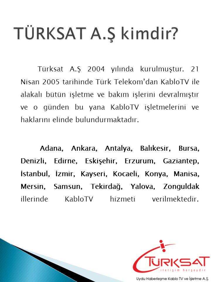 Türksat A.Ş 2004 yılında kurulmuştur.