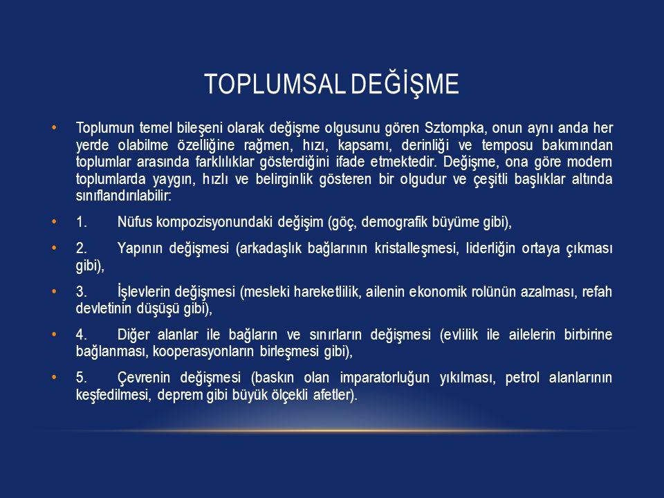 TÜRKIYE'DE KENTLEŞME • Erman, gecekondu bölgelerinde yaşayan nüfusa dair oluşturulan kurguları dört dönem içinde almanın mümkün olduğunu ifade etmektedir.