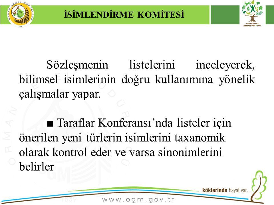16/12/2010 Kurumsal Kimlik 13 Sözleşmenin listelerini inceleyerek, bilimsel isimlerinin doğru kullanımına yönelik çalışmalar yapar. ■ Taraflar Konfera