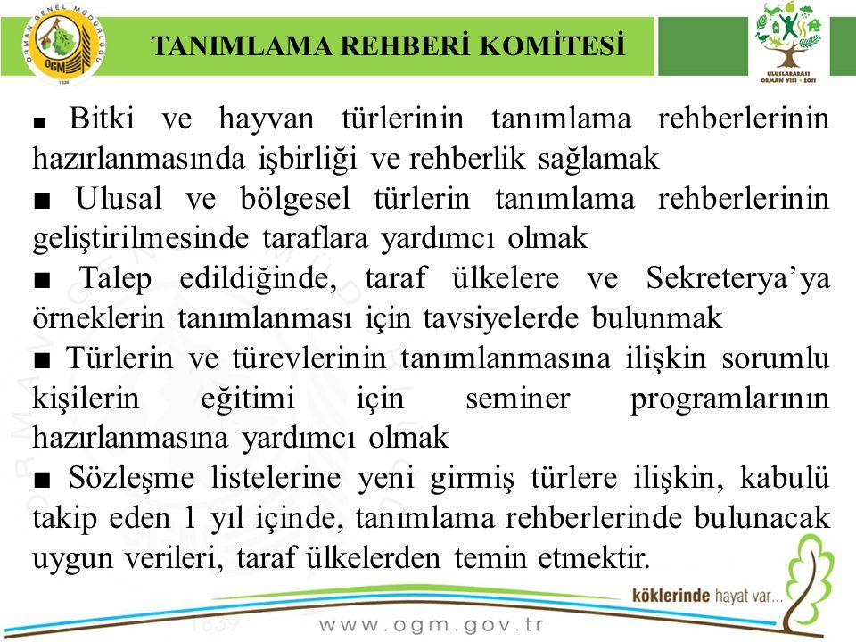 16/12/2010 Kurumsal Kimlik 14 ■ Bitki ve hayvan türlerinin tanımlama rehberlerinin hazırlanmasında işbirliği ve rehberlik sağlamak ■ Ulusal ve bölgese