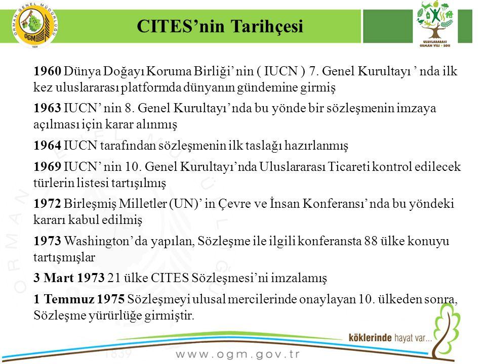 16/12/2010 Kurumsal Kimlik 34 CITES BELGESİNİN GEÇERLİLİK SÜRESİ Yönetmelik hükümleri doğrultusunda, ithalata ilişkin düzenlenen CITES Belgesinin geçerlilik süresi 12 ay, ihracata ve ithal edilmiş örneklerin ihracatına(Yeniden İhracat) ilişkin düzenlenen CITES Belgesinin geçerlilik süresi 6 aydır.