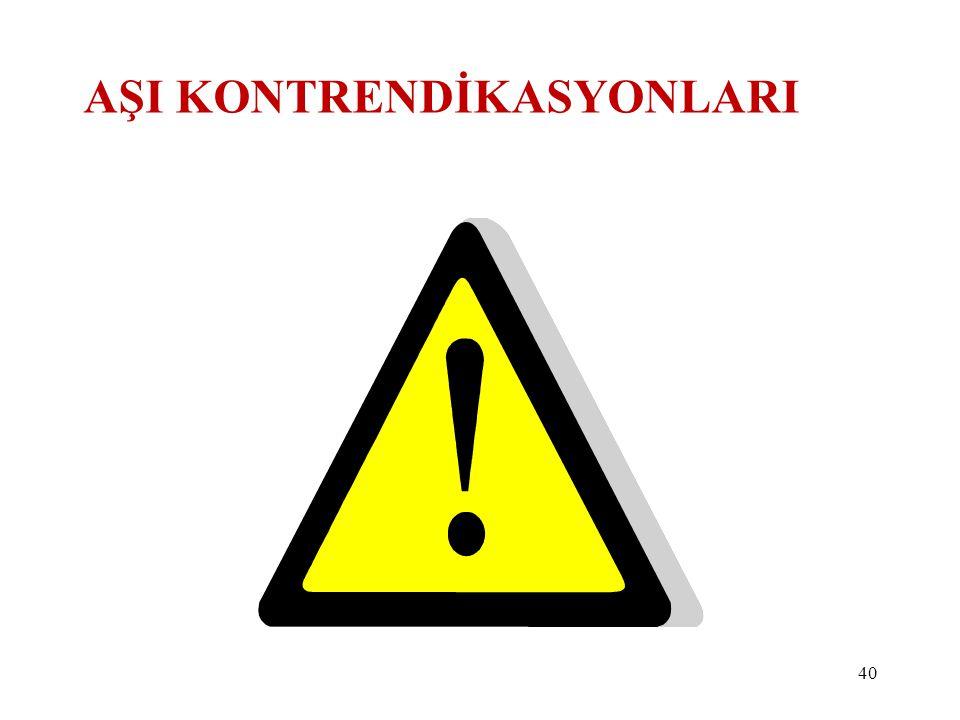 AŞI KONTRENDİKASYONLARI 40