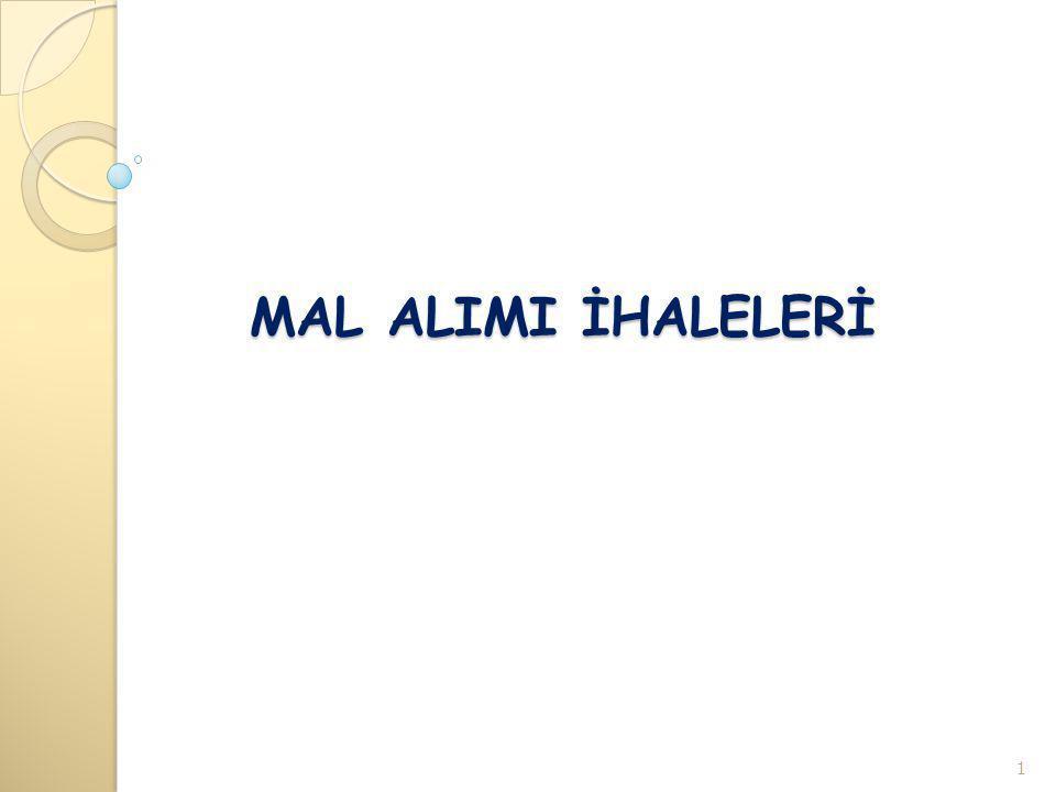 Mal Alımı Nedir.(4734 sk.