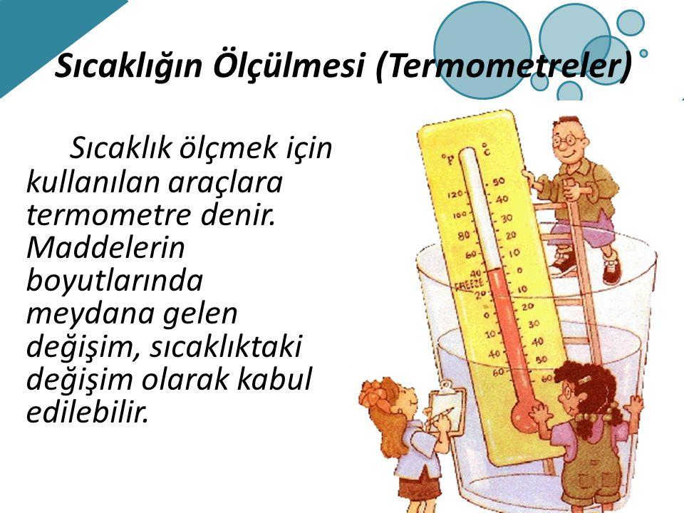 Termometrenin Duyarlılığı Küçük sıcaklık değişimlerinden etkilenen termometrelerin duyarlılığı daha fazladır.