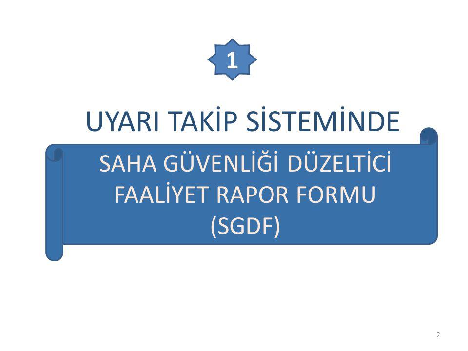 23 Sisteme eklenen tüm belgeler Onaylı konumuna geldiğinde, SGDF Dosya Kapama dilekçesi ile birlikte eklenen belgelerin asılları Genel Müdürlüğümüz adresine gönderilecektir.
