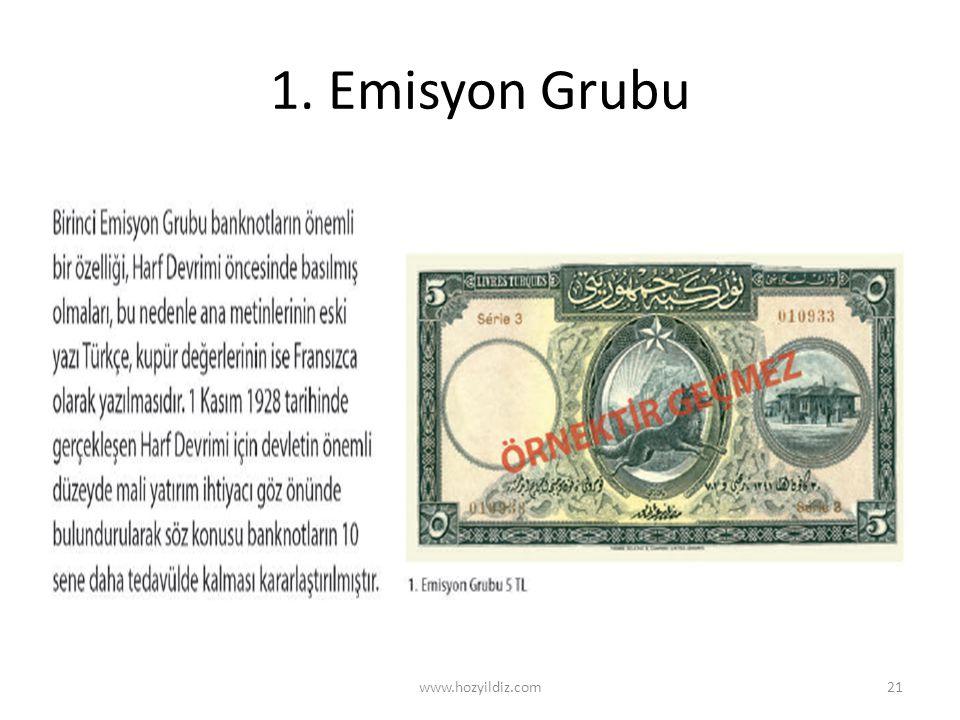 1. Emisyon Grubu www.hozyildiz.com21