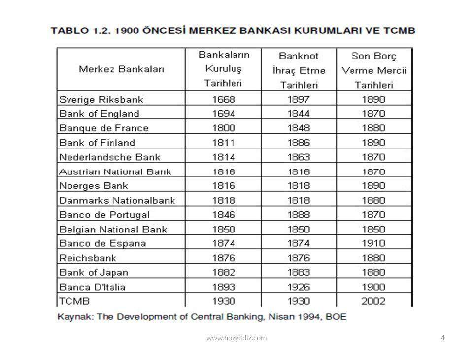 1873-1914 dönemi: Altın standardı • 1983 yılında Almanya, Danimarka, Norveç ve İsveç sonra diğer ülkeler altın standardı uygulamaya başladılar.