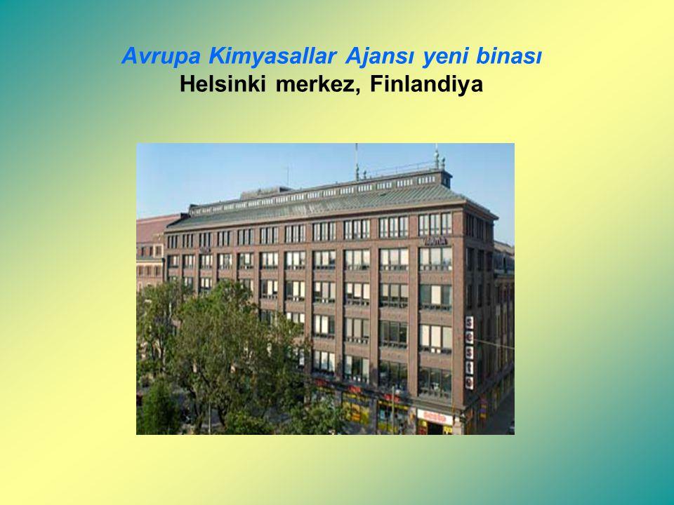 Avrupa Kimyasallar Ajansı (ECHA I): REACH Helsinki'de 1 Haziran 2007 tarihinde Avrupa Kimyasallar Ajansının (ECHA) kurulmasını öngörmüştür. Ajans 1 Ha