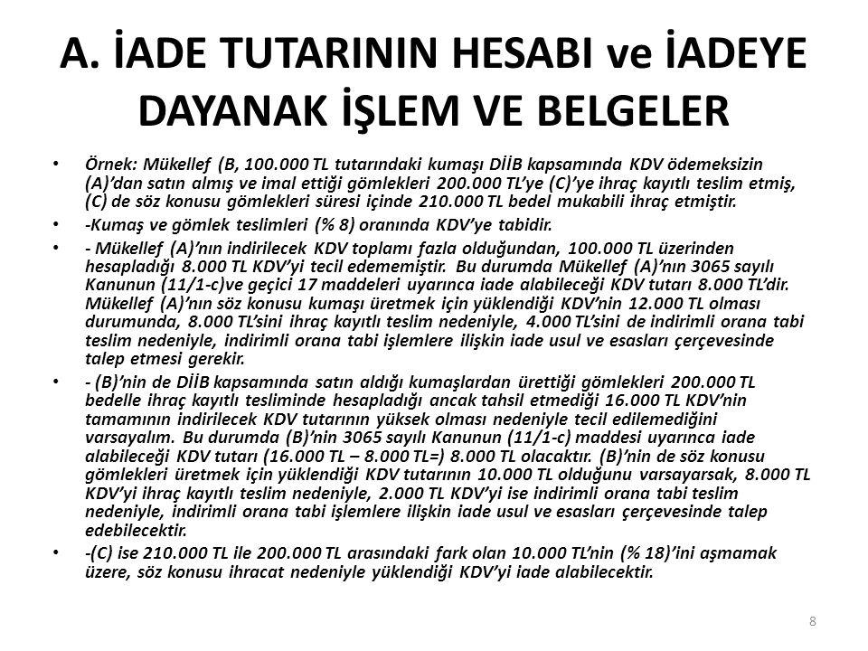 5.2 Teminat Türleri • Teminat olarak 6183 sayılı kanunun 10.