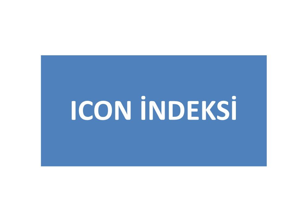 ICON İNDEKSİ