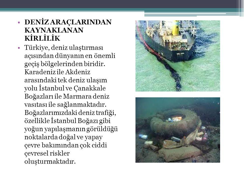 •DENİZ ARAÇLARINDAN KAYNAKLANAN KİRLİLİK •Türkiye, deniz ulaştırması açısından dünyanın en önemli geçiş bölgelerinden biridir. Karadeniz ile Akdeniz a