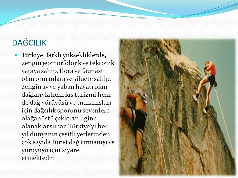 DAĞCILIK  Türkiye, farklı yüksekliklerde, zengin jeomorfolojik ve tektonik yapıya sahip, flora ve faunası olan ormanlara ve siluete sahip, zengin av