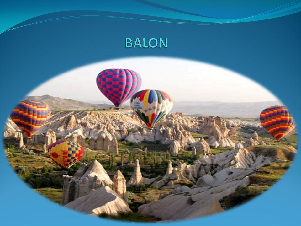 BALON  Dünyada ilk ortaya çıkışı 18.yy sonlarına uzanan balonla uçuş sporu ülkemizde de yoğun ilgi görmektedir.