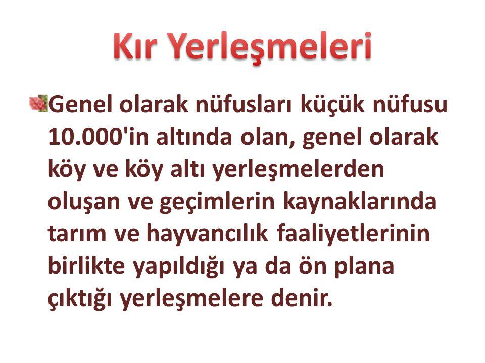 Köy altı yerleşmeleri Doğu Anadolu, G. Doğu Anadolu, Karadeniz ve Akdeniz bölgelerinde yaygındır.