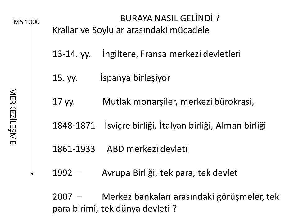 BURAYA NASIL GELİNDİ .Krallar ve Soylular arasındaki mücadele 13-14.