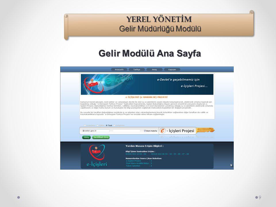 Adres çubuğuna; https://www.e-icisleri.gov.tr/Yetki/Login.aspx adresi yazılır, enter ile e-içişleri login sayfası açılır. Açılan sayfada Kullanıcı Adı