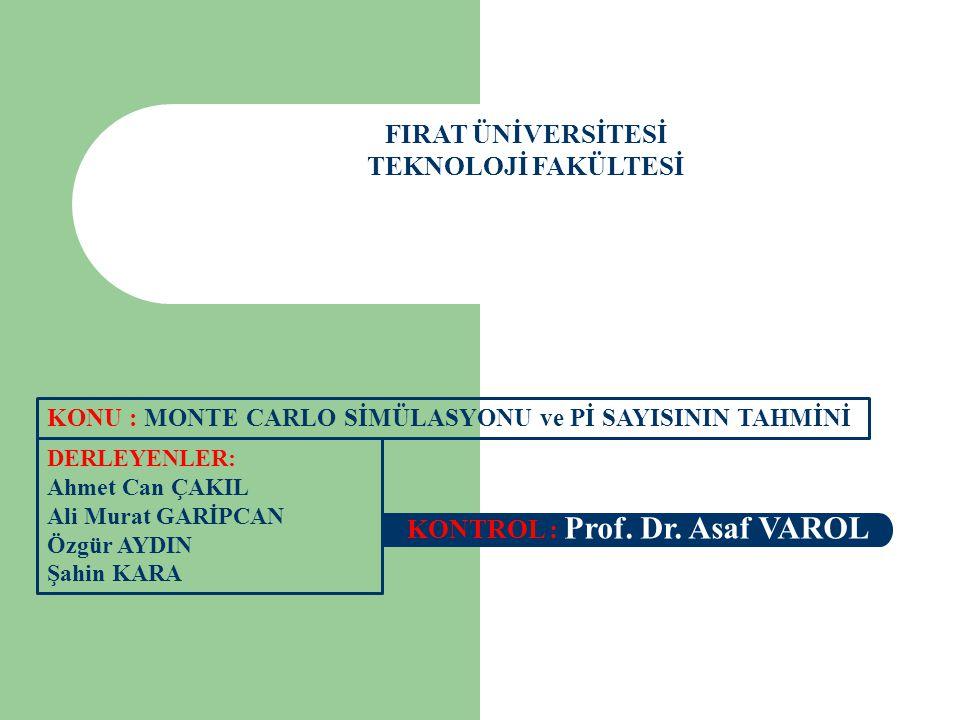FIRAT ÜNİVERSİTESİ TEKNOLOJİ FAKÜLTESİ DERLEYENLER: Ahmet Can ÇAKIL Ali Murat GARİPCAN Özgür AYDIN Şahin KARA KONTROL : Prof. Dr. Asaf VAROL KONU : MO