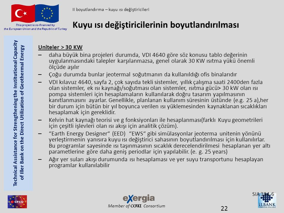 Member of Consortium This project is co-financed by the European Union and the Republic of Turkey Uniteler > 30 KW – daha büyük bina projeleri durumda