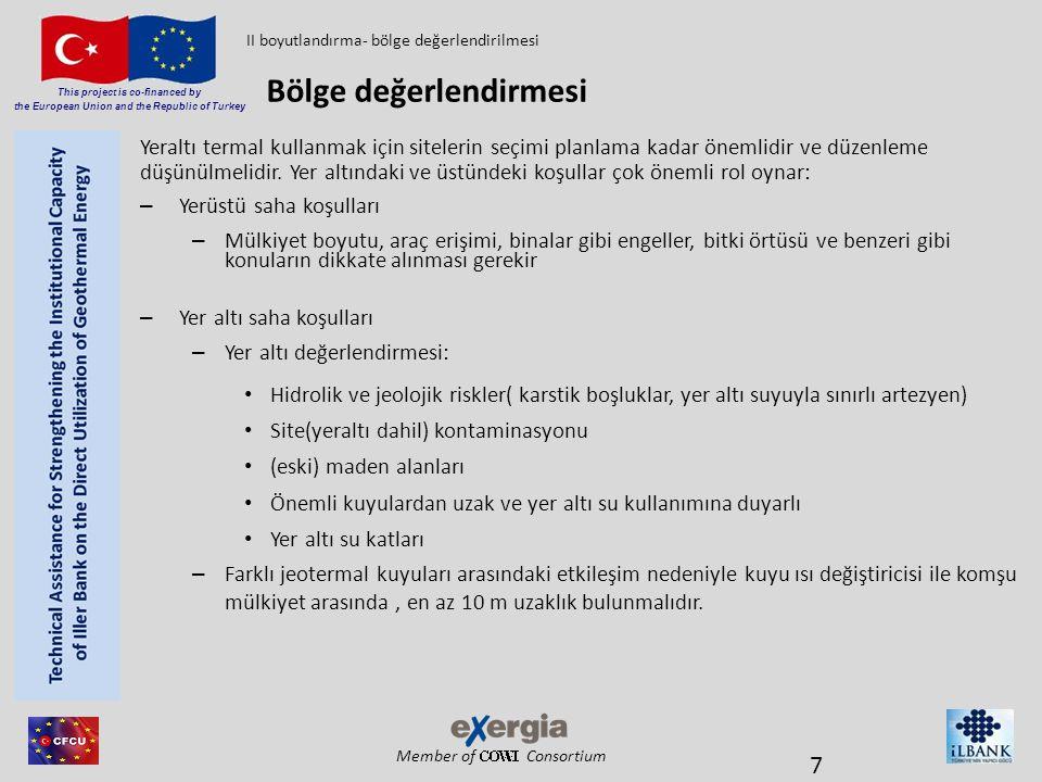 Member of Consortium This project is co-financed by the European Union and the Republic of Turkey Yeraltı termal kullanmak için sitelerin seçimi planl
