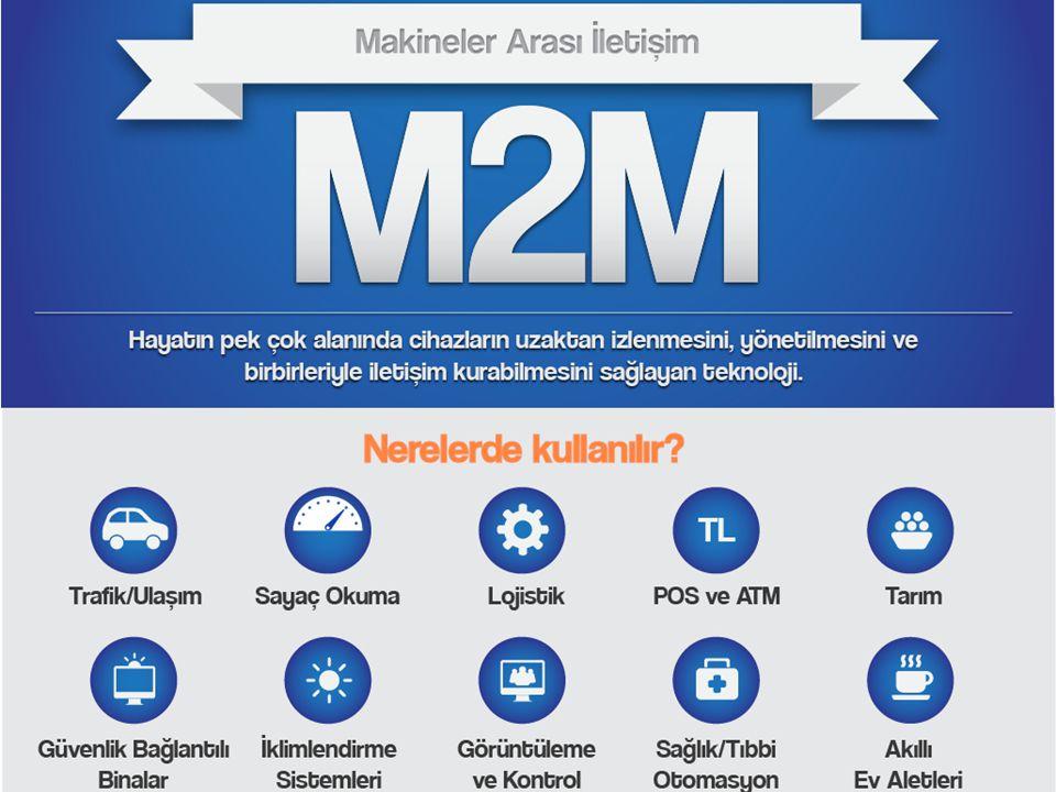 Turkcell'in M2M çözümleri ile 2013 yılında ülke ekonomisine 1,5 milyar TL katkı 450 İlkokul 150 Hastane 300 Fabrika