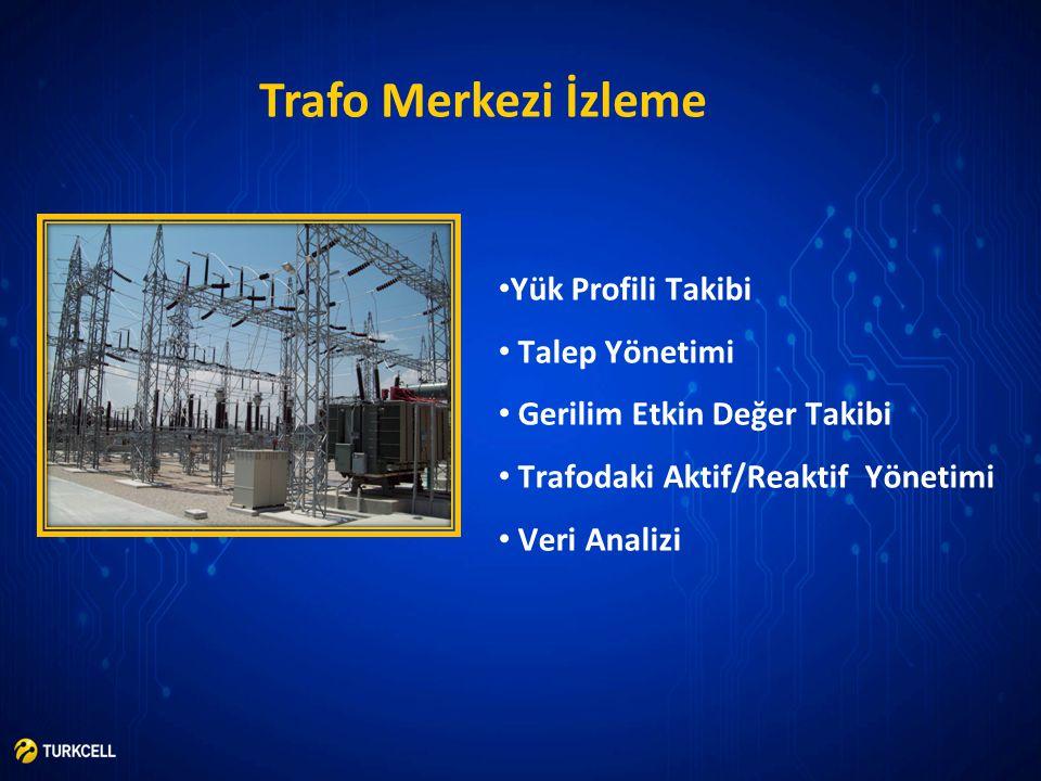 Trafo Merkezi İzleme • Yük Profili Takibi • Talep Yönetimi • Gerilim Etkin Değer Takibi • Trafodaki Aktif/Reaktif Yönetimi • Veri Analizi