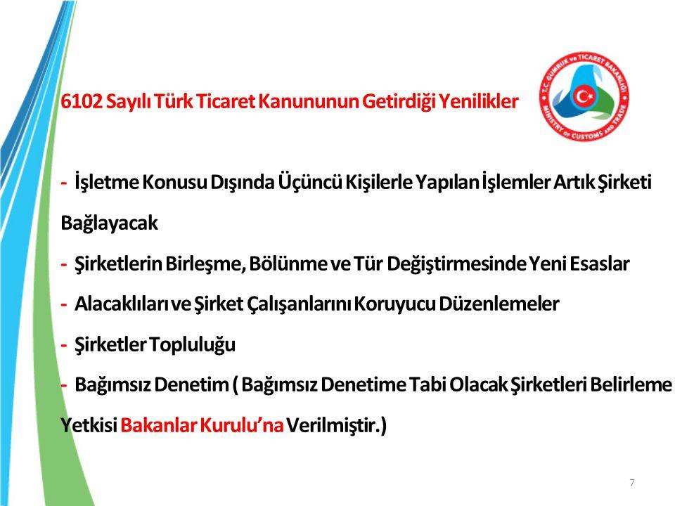 6102 Sayılı Türk Ticaret Kanununun Getirdiği Yenilikler - İşletme Konusu Dışında Üçüncü Kişilerle Yapılan İşlemler Artık Şirketi Bağlayacak - Şirketle