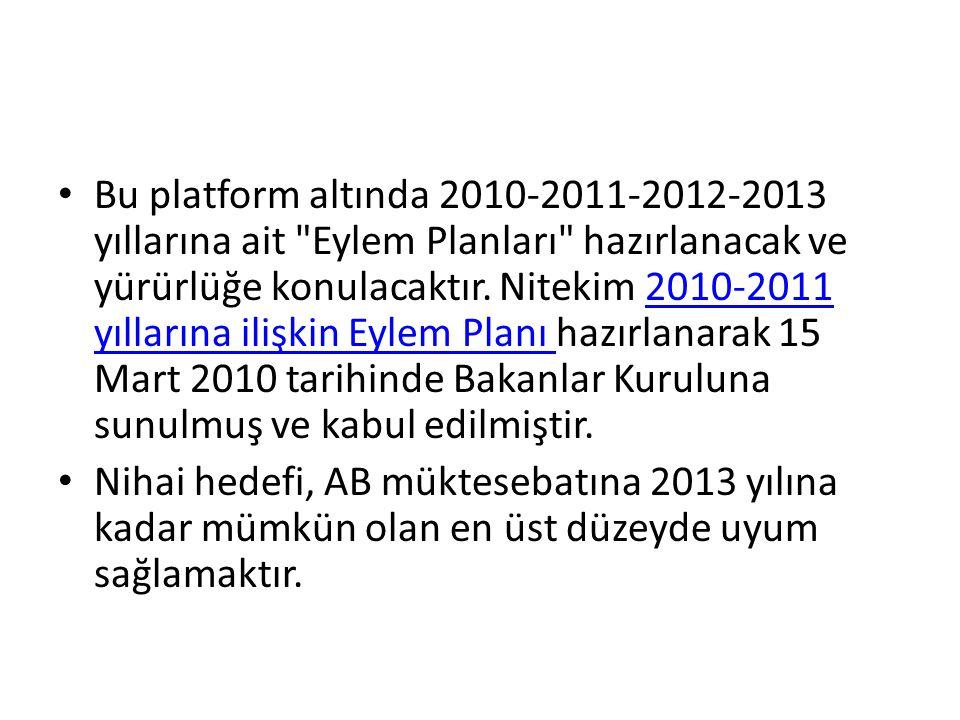 • Bu platform altında 2010-2011-2012-2013 yıllarına ait